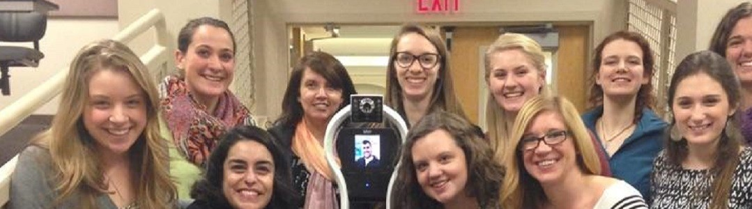 Vgo Robot with University of Montana students