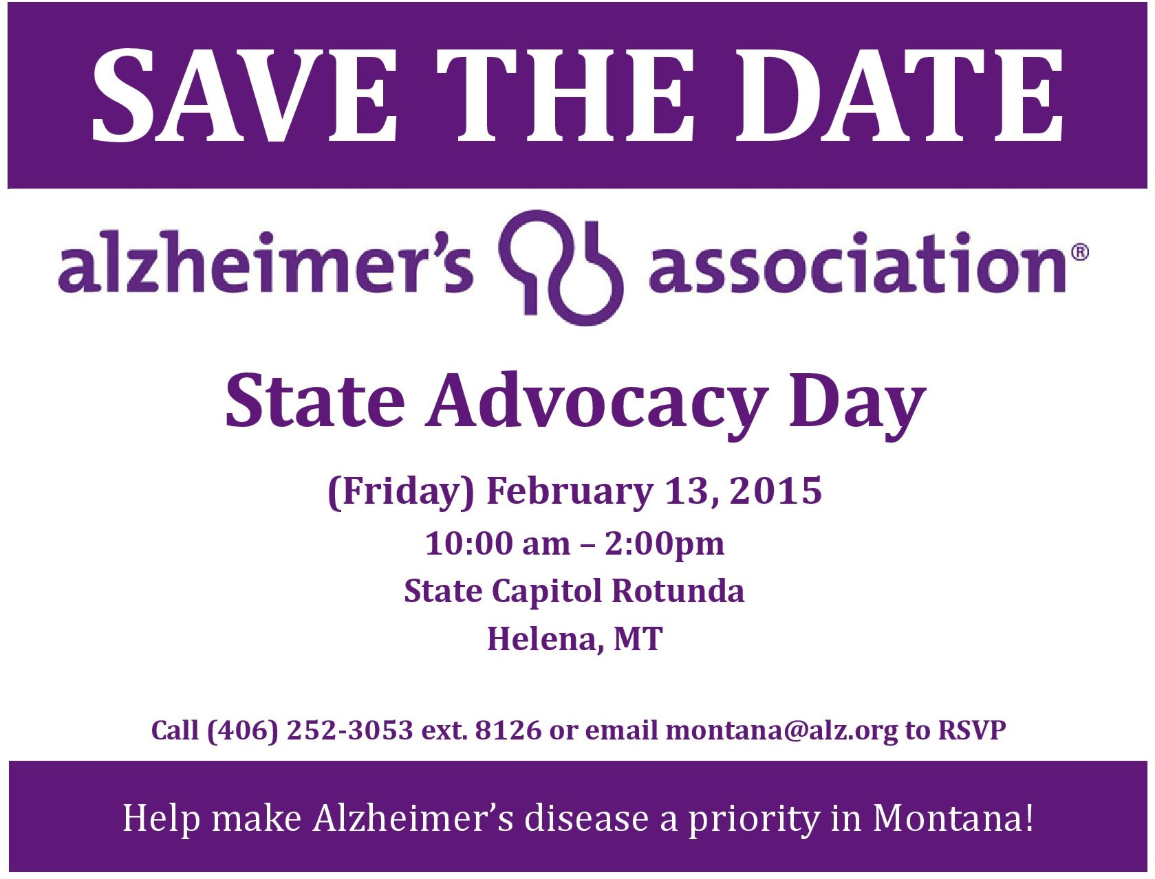 State Advocacy Day - Friday, February 13, 2015