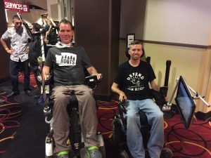 A picture of Scott Thomas and Steve Gleason.