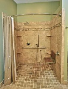 An example of an accessible shower.