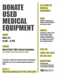 Donate used medical equipment
