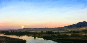 Susan's Moon Over Montana Painting