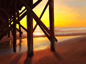 Susan's Sunset Pier Painting
