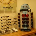 Displays of glasses in the Billings VR and Blind Services lab
