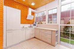 Modern, uncluttered, well-lit kitchen