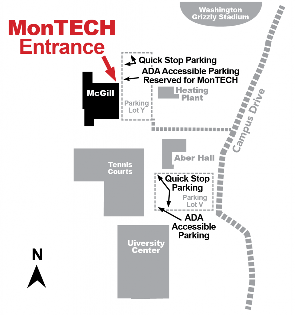 Simple campus map to our new location